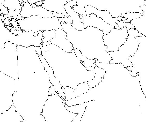 Map Quiz Study Guides - Blank map of asia